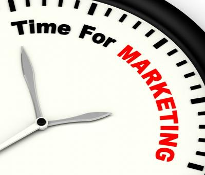 Free Stock Photo of Time For Marketing Message Showing Advertising And Sales