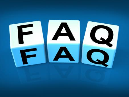 Free Stock Photo of Faq Blocks Indicate Question Answer Information and Advice