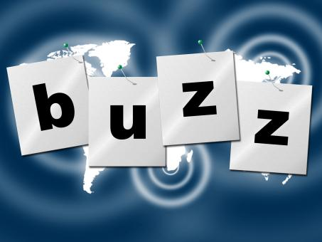 Free Stock Photo of Word Buzz Indicates Public Relations And Publicity