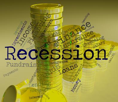 Free Stock Photo of Recession Word Means Economic Crisis And Bankruptcy