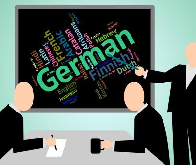 Free Stock Photo of German Language Indicates Text International And Foreign