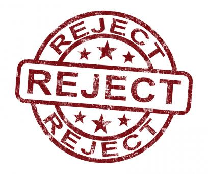 Free Stock Photo of Reject Stamp Shows Rejection Denied Or Refusal