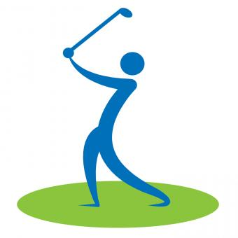 Free Stock Photo of Golf Swing Man Indicates Game Human And Player