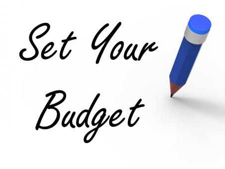 Free Stock Photo of Set Your Budget with Pencil Means Writing Financial Goals