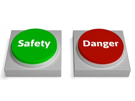Free Stock Photo of Danger Safety Buttons Show Safe Or Harmful