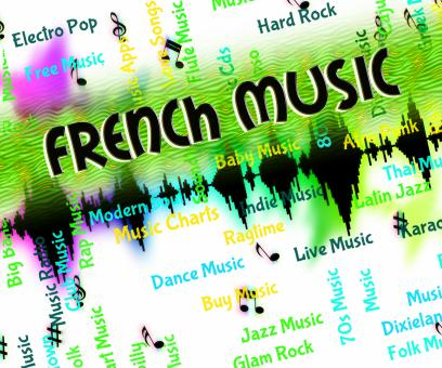 Free Stock Photo of French Music Indicates Sound Tracks And France
