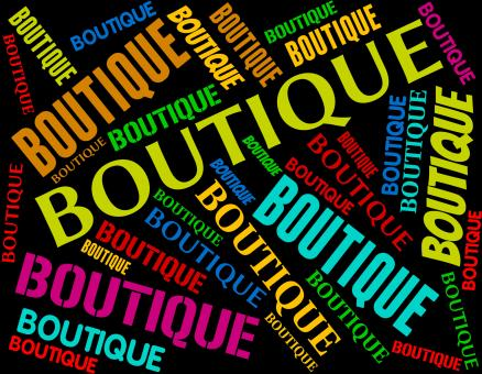 Free Stock Photo of Boutique Word Means Retail Sales And Apparel