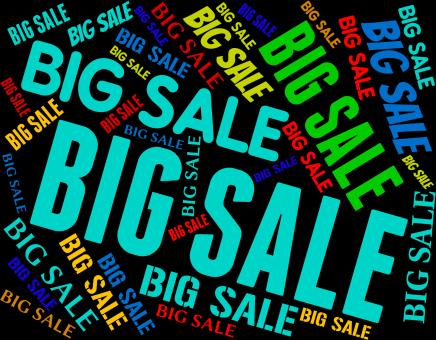 Free Stock Photo of Big Sale Indicates Promotional Bargains And Discount