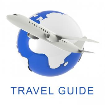 Free Stock Photo of Travel Guide Means Holiday Tours 3d Rendering
