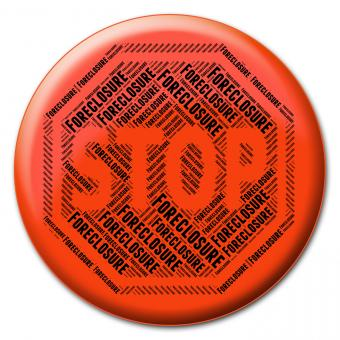 Free Stock Photo of Stop Foreclosure Indicates Warning Sign And Caution