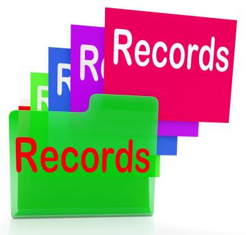 Free Stock Photo of Records Folders Show Files Reports And Evidence