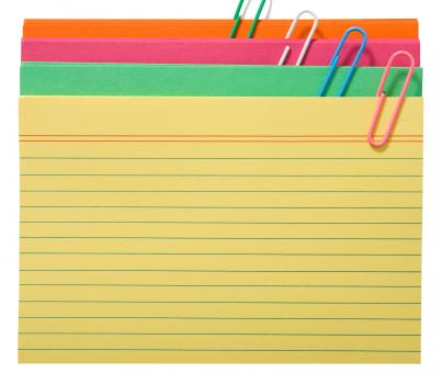 Free Stock Photo of Blank Index Cards For Notes