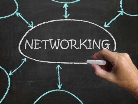 Free Stock Photo of Networking Blackboard Means Making Contacts And Connections
