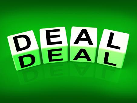 Free Stock Photo of Deal Blocks Show Dealings Transactions and Agreements