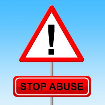 Free Stock Photo of Stop Abuse Indicates Warning Sign And Danger