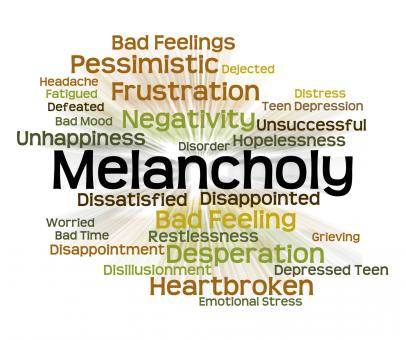 Free Stock Photo of Melancholy Word Represents Low Spirits And Dejected