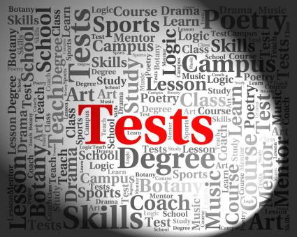 Free Stock Photo of Tests Word Shows Examinations Examination And Questions