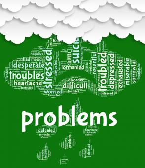 Free Stock Photo of Problems Word Shows Stumbling Block And Complication