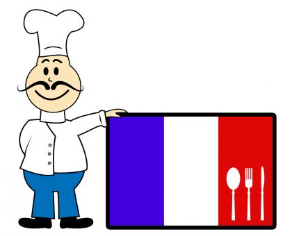 Free Stock Photo of Chef France Means Cooking In Kitchen And Europe