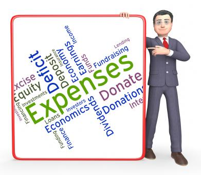 Free Stock Photo of Expenses Word Represents Outgoing Outlays And Budgeting