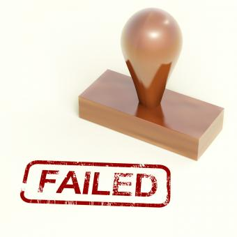 Free Stock Photo of Failed Stamp Showing Reject And Failure