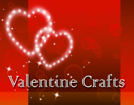 Free Stock Photo of Valentine Crafts Represents Valentines Day And Art