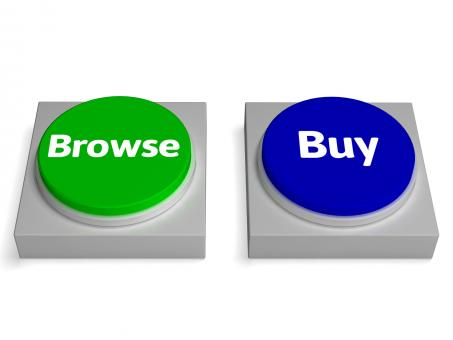 Free Stock Photo of Browse Buy Buttons Shows Browsing Or Buying