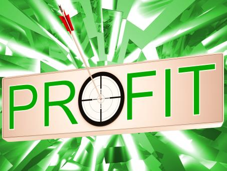 Free Stock Photo of Profit Means Earning Revenue And Business Growth