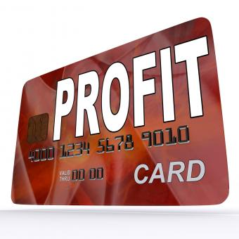 Free Stock Photo of Profit on Credit Debit Card Shows Earn Money