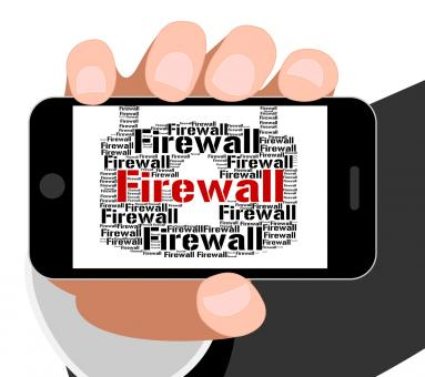 Free Stock Photo of Firewall Lock Indicates Protect Wordcloud And Defence