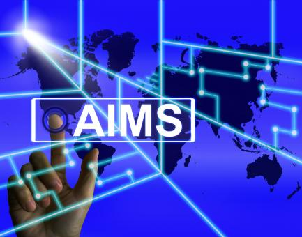 Free Stock Photo of Aims Screen Shows International Goals and Worldwide Aspirations