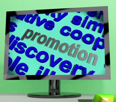 Free Stock Photo of Promotion Word Means Advertising Campaign Or Special Deal
