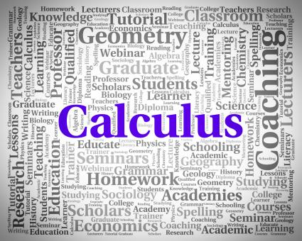 Free Stock Photo of Calculus Word Indicates Algebra Figures And Words