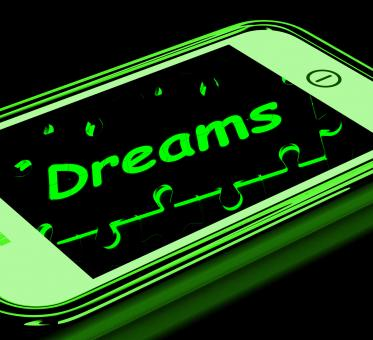 Free Stock Photo of Dreams On Smartphone Shows Aspirations