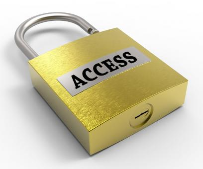 Free Stock Photo of Access Padlock Means Admittance Permission And Accessibility 3d Render