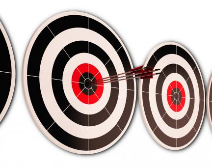 Free Stock Photo of Triple Dart Shows Successful Performance And Result