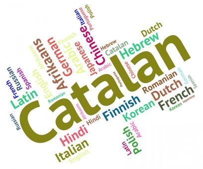 Free Stock Photo of Catalan Language Represents Word Translator And International