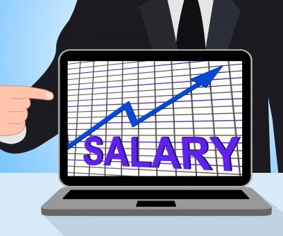 Free Stock Photo of Salary Chart Graph Displays Increase Earn Cash Wealth Revenue