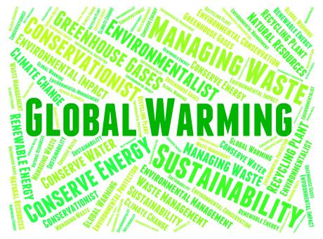 Free Stock Photo of Global Warming Represents Atmosphere Words And Hot