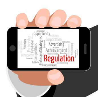 Free Stock Photo of Regulation Word Indicates Rules Regulations And Text