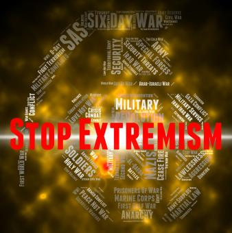 Free Stock Photo of Stop Extremism Represents Control Bigotry And Warning