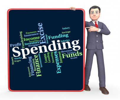 Free Stock Photo of Spending Word Indicates Words Buying And Text