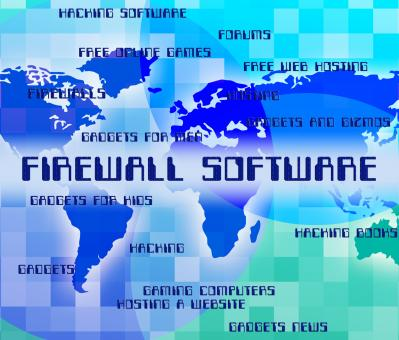 Free Stock Photo of Firewall Software Means No Access And Application
