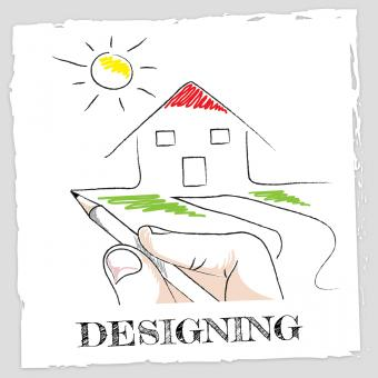 Free Stock Photo of Draw Designing Means Drawing Artwork And Visualization