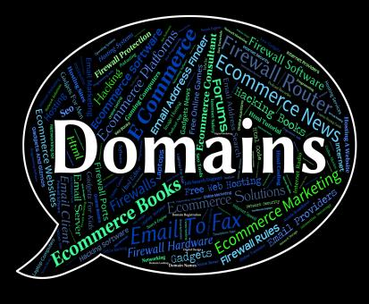Free Stock Photo of Domains Word Indicates Words Web And Text
