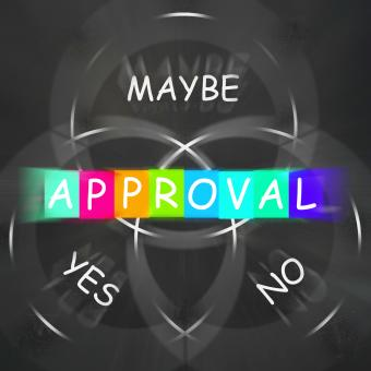 Free Stock Photo of Approval Displays Endorsed Yes Not No or Maybe