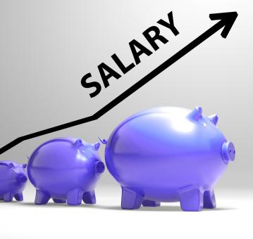 Free Stock Photo of Salary Arrow Shows Pay Rise For Workers