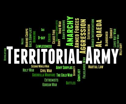 Free Stock Photo of Territorial Army Means Armed Services And Tavr