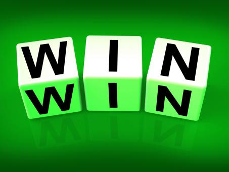 Free Stock Photo of Win Blocks Indicate Success Triumphant and Winning