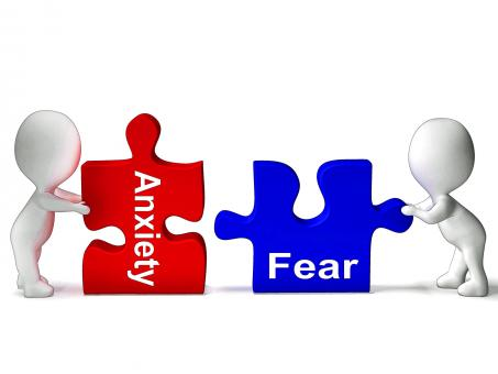 Free Stock Photo of Anxiety Fear Puzzle Means Anxious Or Afraid